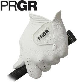 PRGR プロギア メンズ レザーコンポジットモデル ゴルフグローブ PG-119 W ホワイト [2019年モデル] [有賀園ゴルフ]