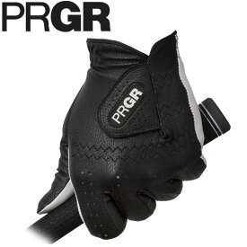 PRGR プロギア メンズ レザーコンポジットモデル ゴルフグローブ PG-119 B ブラック [2019年モデル] [有賀園ゴルフ]