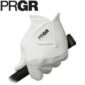 PRGR プロギア メンズ 全天候型 ゴルフグローブ PG-219 WW ホワイト×ホワイト [2019年モデル] [有賀園ゴルフ]