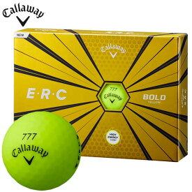 【5,500円以上で送料無料+全品P5倍以上♪ (11/13 9:59まで)】 キャロウェイ ERC E・R・C ゴルフボール 1ダース(12球入り) ボールドイエロー [2019年モデル] 【あす楽対応】 [有賀園ゴルフ]