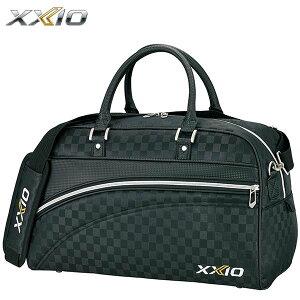 ダンロップ XXIO ゼクシオ メンズ スポーツ ボストンバッグ GGB-X111 ブラックチェック [2020年モデル] [有賀園ゴルフ]