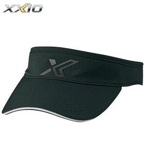 ダンロップ XXIO ゼクシオ メンズ ロゴ バイザー XMH0305L ブラック [2020年モデル] [有賀園ゴルフ]
