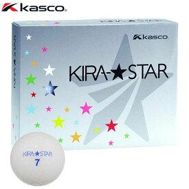 キャスコ KIRA STAR キラスター2 ゴルフボール 1ダース (12球入り) ホワイト 【あす楽対応】 [有賀園ゴルフ]