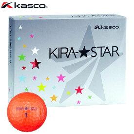 キャスコ KIRA STAR キラスター2 ゴルフボール 1ダース (12球入り) レッド 【あす楽対応】 [有賀園ゴルフ]