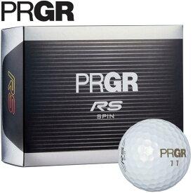 PRGR プロギア RS SPIN ゴルフボール 1ダース (12球入り) パールホワイト [2020年モデル] [有賀園ゴルフ]