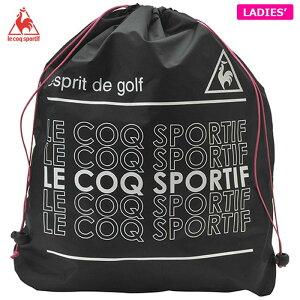 ルコック レディース 巾着型 シューズケース QQCPJA25 BK00 ブラック [2020年モデル] 【あす楽対応】 [有賀園ゴルフ]