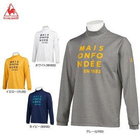 ルコック メンズ プリントデザイン 長袖 ハイネックシャツ QGMQJB08 ゴルフウェア [2020年秋冬モデル] 【あす楽対応】 [有賀園ゴルフ]