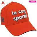 ルコック レディース 立体刺繍ロゴ コットンツイル キャップ QGCQJC00 OR00 オレンジ ゴルフウェア [2020年モデル] …