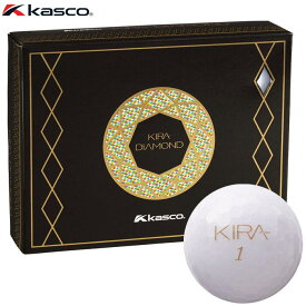 キャスコ KIRA DIAMOND キラ ダイヤモンド ゴルフボール 1ダース (12球入り) ホワイト 【あす楽対応】 [有賀園ゴルフ]