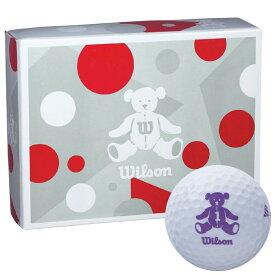 ウィルソン Wilson BEAR 4 ベア ゴルフボール 1ダース (12球入り) ホワイト 【あす楽対応】 [有賀園ゴルフ]