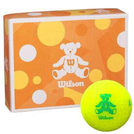 ウィルソン Wilson BEAR 4 ベア ゴルフボール 1ダース (12球入り) イエロー 【あす楽対応】 [有賀園ゴルフ]