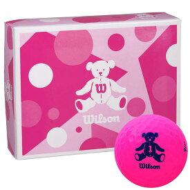 ウィルソン Wilson BEAR 4 ベア ゴルフボール 1ダース (12球入り) ピンク 【あす楽対応】 [有賀園ゴルフ]