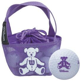 ウィルソン Wilson BEAR 4 ベア ネット入り ゴルフボール ホワイト(10球入り) 【あす楽対応】 [有賀園ゴルフ]