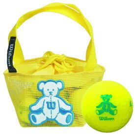 ウィルソン Wilson BEAR 4 ベア ネット入り ゴルフボール イエロー(10球入り) 【あす楽対応】 [有賀園ゴルフ]