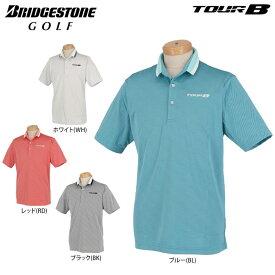 ブリヂストンゴルフ TOUR B メンズ ロゴ刺繍 クールコア 半袖 ポロシャツ 3GN05A ゴルフウェア [春夏モデル 66%OFF] 特価 【あす楽対応】 [有賀園ゴルフ]