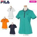 フィラ レディース ジャカード 総柄 半袖 ポロシャツ 750-600 [2020年モデル] ゴルフウェア [春夏モデル 56%OFF] 特…