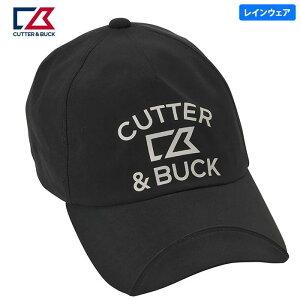 カッター&バック メンズ ロゴプリント レインキャップ CGBNJC00 BK00 ブラック [2020年モデル] ゴルフウェア [50%OFF] 特価 【あす楽対応】 [有賀園ゴルフ]