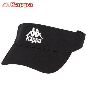 カッパ メンズ ロゴ刺繍 サンバイザー KGA18HW15 BK ブラック [2020年モデル] ゴルフウェア [60%OFF] 特価 【あす楽対応】 [有賀園ゴルフ] ☆☆