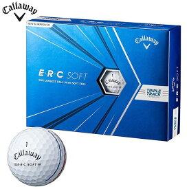 [送料無料] キャロウェイ E・R・C SOFT ERCソフト ゴルフボール 1ダース(12球入り) ホワイト [2021年モデル] 【あす楽対応】 [有賀園ゴルフ]