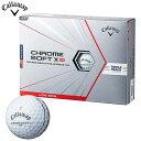 キャロウェイ CHROME SOFT X LS TRIPLE TRACK クロム ソフト エックス ロースピン トリプルトラック ゴルフボール 1ダース(12球入り) ホワイト [2021年モデル] 【あす楽対応】 [有賀園ゴルフ]