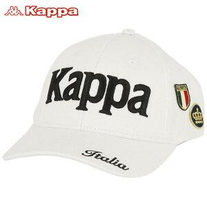 カッパ メンズ 立体ロゴ刺繍 ワッペン キャップ KGA58HW04 WT ホワイト [2020年モデル] ゴルフウェア [50%OFF] 特価 【あす楽対応】 [有賀園ゴルフ]
