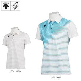 デサントゴルフ メンズ JAPAN NATIONAL TEAM プレイングモデル ライジングボーダー グラデーション 半袖 ポロシャツ DGMPJA01OP ゴルフウェア [2021年春夏モデル] 【あす楽対応】 [有賀園ゴルフ]