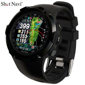 ショットナビ 腕時計型GPSゴルフナビ Shot Navi W1 Evolve エボルブ ブラック×ブラック 【あす楽対応】 【ポイント10倍(9/29 9:59まで)】 [有賀園ゴルフ]