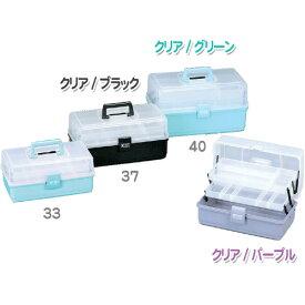 工具箱 マイキット 33 ブラック クリアケース 収納ケース 裁縫箱 裁縫ケース パーツケース 工具入れ 道具入れ 小物入れ シンプル おしゃれ 持ち運び ビジネス 収納ケース 収納 段トレー付 小物整理 送料無料 アイリスオーヤマ