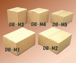 【幅44×奥行32×高さ23.6cm】ダンボールBOX DB-M1【段ボール/収納/引越し/ケース/BOX/コンテナ】