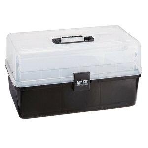 【即納】マイキット40ブラック送料無料工具箱ツールボックス工具箱プラスチック工具箱おしゃれ工具ケース工具入れハードケースプラスチックケース収納ボックス小物裁縫箱アイリスオーヤマアイリスマイキット40