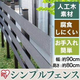 送料無料 人工木フェンス 90cm×80cm WPF-900 アイリスオーヤマ【時間指定不可】