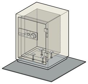 【EIKO】耐火金庫ベースボード[CSG-65対応]FBCS60幅915×奥行き915×厚み4.5(mm)床固定で持ち去り防止!地震による転倒防止対策にも。【TD】