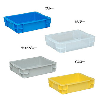 Storage box container 14L polythene body PT-14 ST 4 colors (blue B10 C11 clear and Y10 yellow and GR6 light gray) on the Yazaki of industrial container box fashionable storage case P01Jul16