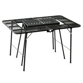 BBQテーブル ブラック NE3322送料無料 バーベキュー テーブル 高さ調整 BBQ 屋外 ノースイーグル アウトドア シンプル キャンプ ノースイーグル 【D】