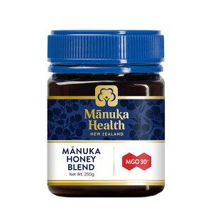 マヌカヘルス マヌカハニー MGO30+ Blend 250g [正規品 ニュージーランド産] はちみつ マヌカ manuka 正規輸入 富永貿易 のど 抗菌作用 ウイルス 蜂蜜 ハチミツ MANUKA HEALTH NEW ZEALAND 【D】