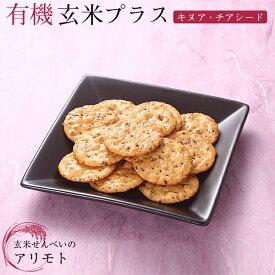 有機玄米プラス キヌア&チアシード 40g有機JAS認定商品化学調味料 無添加 オーガニック お菓子 玄米 携帯食