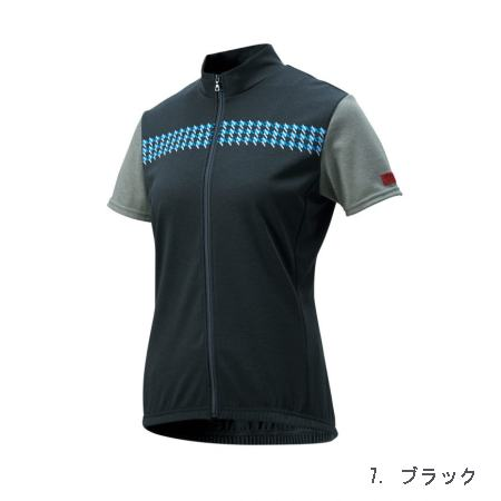 パールイズミ 女性用 W336-B フリージー サイクル ジャージ 【7. ブラック】