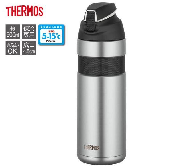 THERMOS サーモス FFQ-600 真空断熱ストローボトル 600cc 【ブラック】 自転車用