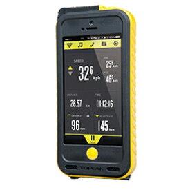 TOPEAK トピーク ウェザープルーフ ライドケース (iPhone 5/5S用/パワーパック内蔵)セット イエロー 自転車用 【送料無料】(沖縄・北海道・離島は追加送料かかります)