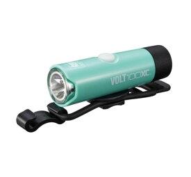 キャットアイ HL-EL051RC USB充電式 VOLT100XC チェレステ LED ライト 自転車