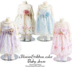 f7e01fde196e2  送料無料 USフラワーベビードレス 結婚式 70 80 90 95 ピンク ベビー