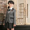 卒業式 スーツ 女の子 小学生 150 160 165 4点セット(ジャケット キュロット シャツ ネクタイ) 子供服 卒服 小学校卒…
