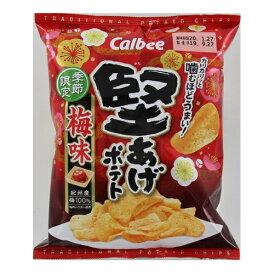 カルビー 堅あげポテト梅味 60g×24個 【送料無料】