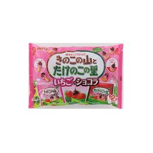 明治 きのこたけのこ袋いちご&ショコラ 138g×18個 【送料無料】