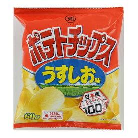 湖池屋 ポテトチップスうすしお味 60g×24個 【送料無料】