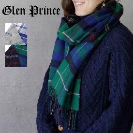 GLEN PRINCE(グレンプリンス)ウール100% リバーシブルチェックマフラー ハーフサイズ 180×30cm CL2852