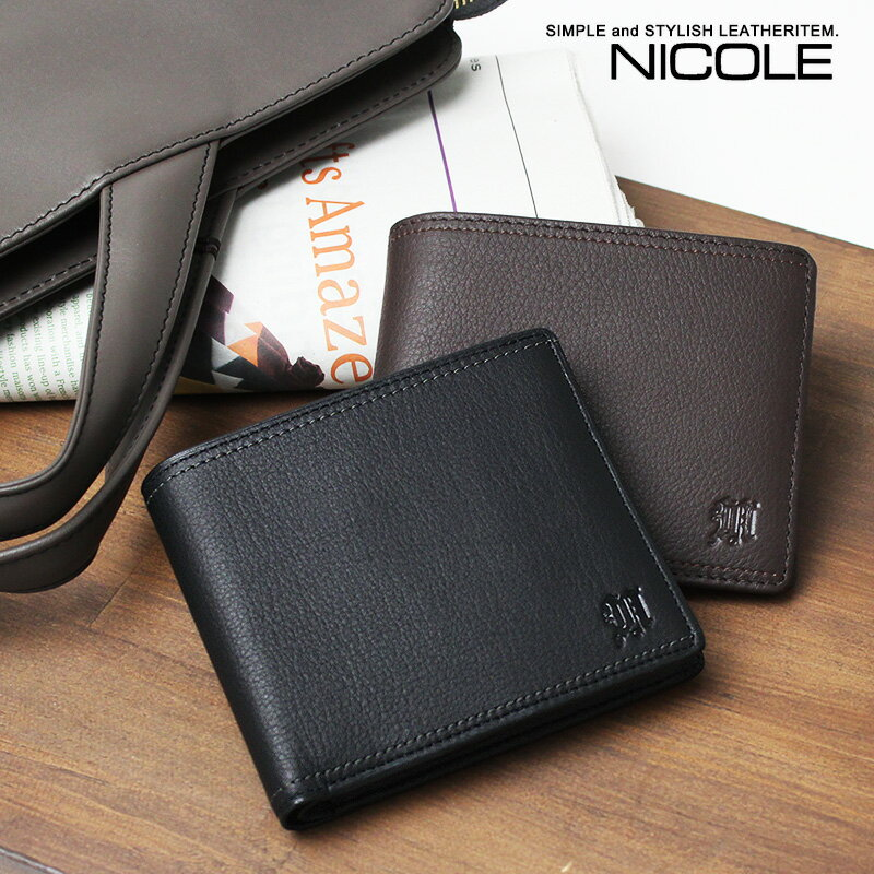NICOLE ニコル メンディII 2折財布 牛革 7304200【店頭受取対応商品】