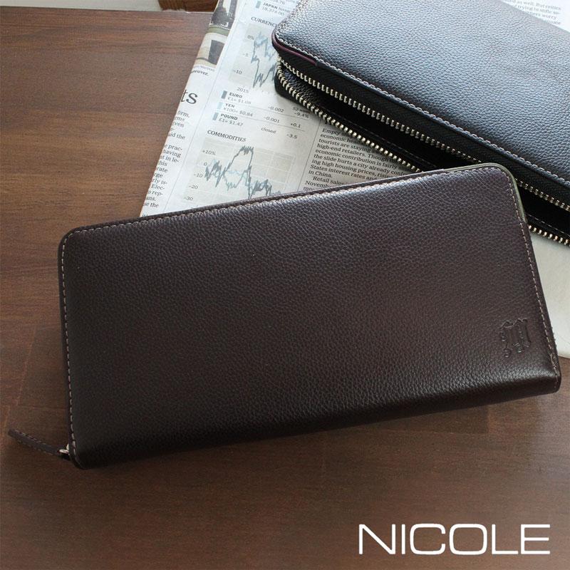 NICOLE ニコル グレイソン ラウンドファスナー長財布 7304904【店頭受取対応商品】