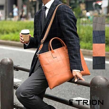 薄マチ2WAYブリーフケース TRION(トライオン)パネルレザー ビジネスシリーズ BP101【A4】【本革】【グラブレザー】
