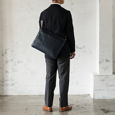 TRION(トライオン)パネルレザービジネスシリーズ薄マチショルダーバッグ/クラッチBP104【A4】【本革】【グラブレザー】【あす楽】